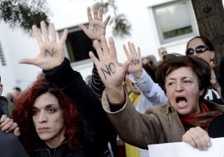 ciprusi tüntetés (ciprus, bankbetét, tüntetés, )