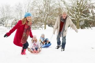 havazás szánkózás (hó, tél, )