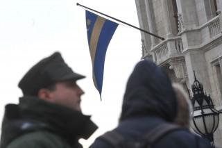 székely zászló a Parlamenten (székely, székely zászló, )
