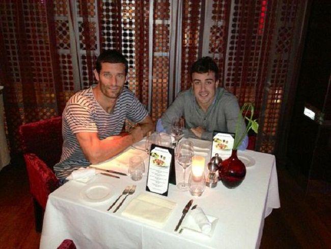 Alonso és Webber (fernando alonso, mark webber, )