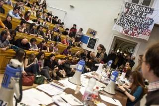 Hallgatói fórum az ELTE-BTK-n (diáktüntetés, egyetemfoglalás, )