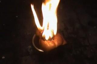 Lángoló csokinyúl (tűz, csokinyúl, )