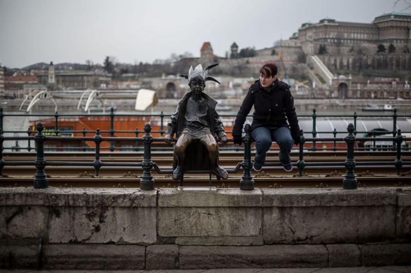 kiskirálylány szobor (kiskirálylány, szobor, )