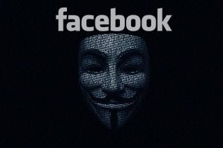 Facebook digitális Guy Fawkesszal (facebook, guy fawkes, anonymous, )