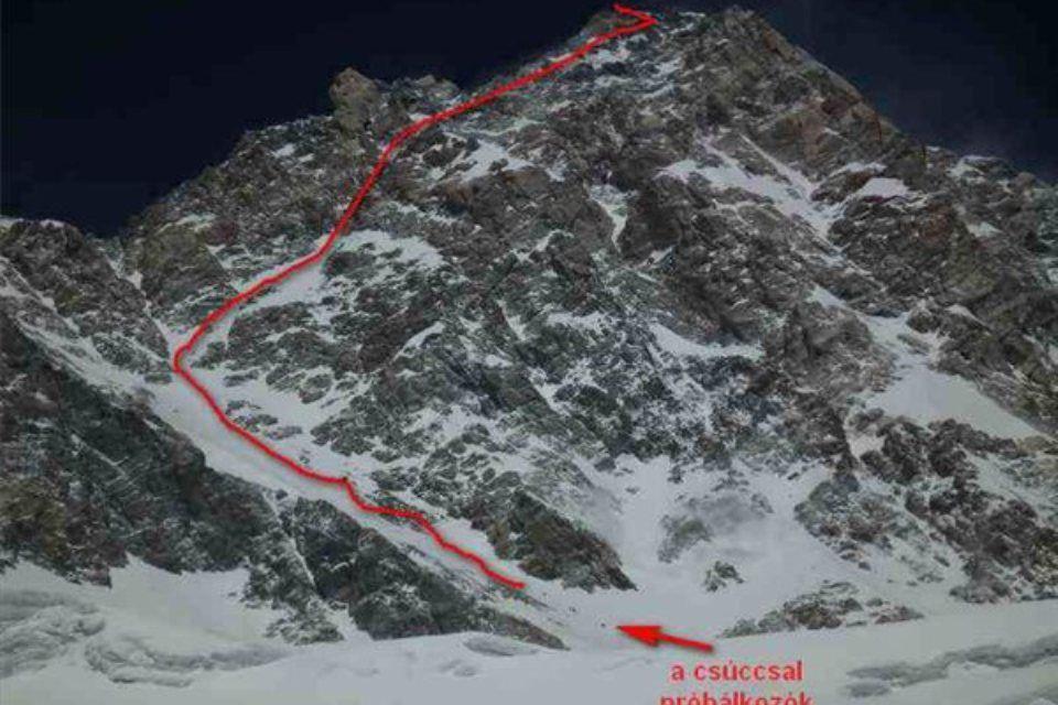 Kancsendzönga csúcsára vezető út, himalája (Kancsendzönga 8586 méter magas csúcsára vezető út)