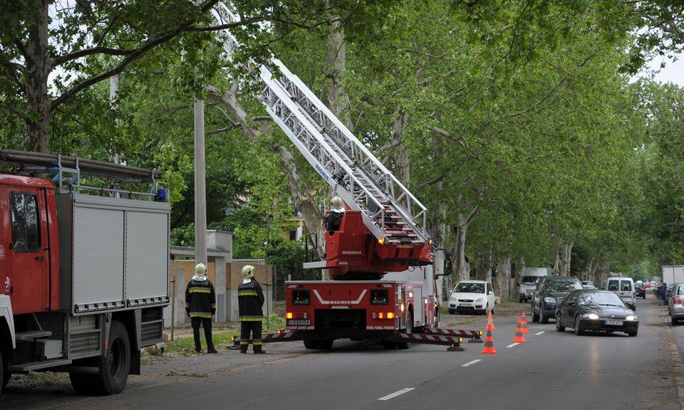 Tűzoltók a vihar után Szegeden (Tűzoltók a vihar után Szegeden)