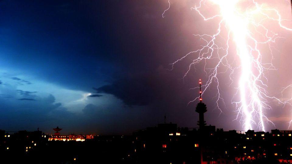 Villám Szegeden (szeged, villámlás, vihar)