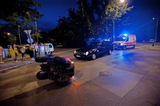 baleset a fővárosban (quad, baleset)