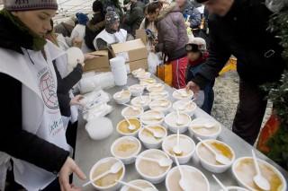 ételosztás a Blahán (ételosztás)