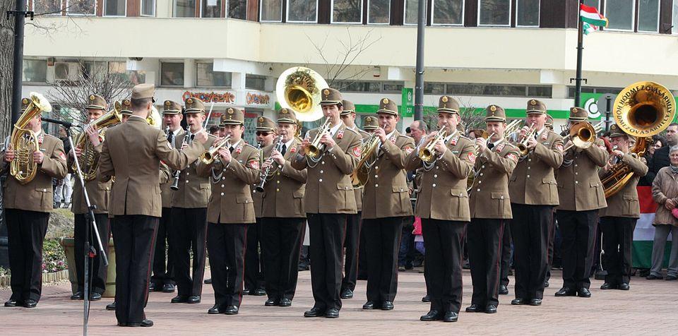 Hódmezővásárhelyi Helyőrségi Zenakar (zenekar, katonazenekar, honvédség, katonaság, hódmezővásárhely, )