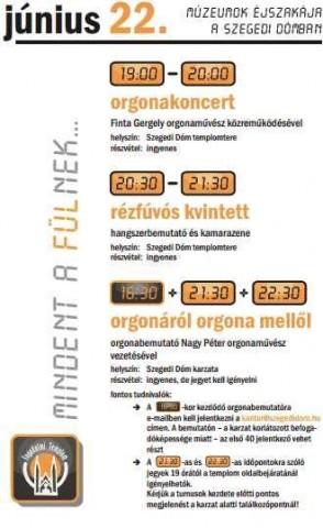 Múzeumok éjszakája a szegedi Dómban 2013 (Múzeumok éjszakája a szegedi Dómban 2013)