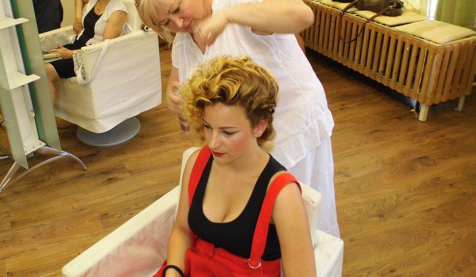 frizura (elegance, frizura, emlekpont, fodrasz)