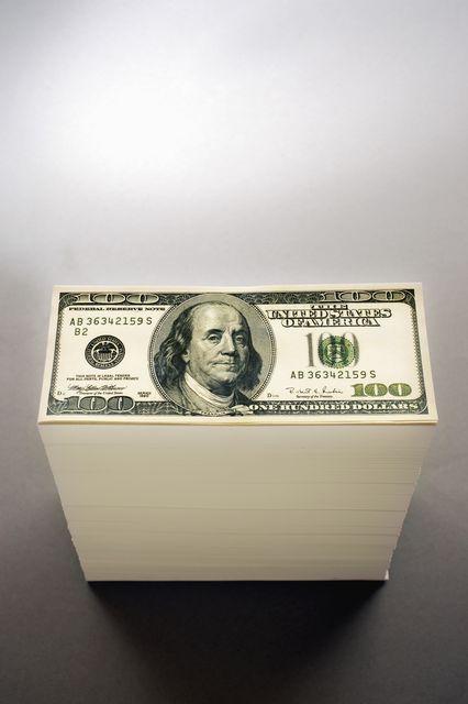 Dollár torony (dollár, bankjegy, )