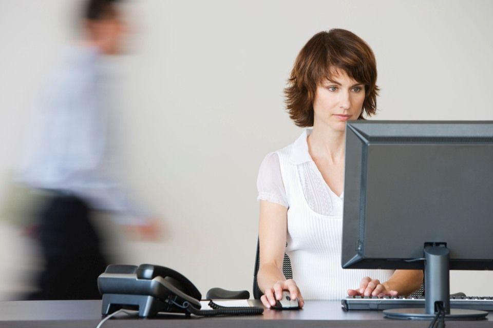 irodai munka (számítógép, iroda, )