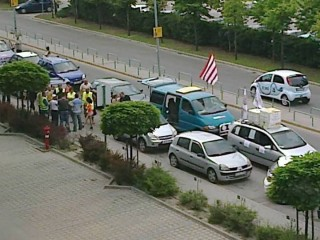 tüntetés az RTL székháznál (tüntetés, rtl klub)