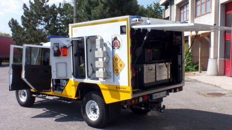Mobil labor (mobil labor, katasztrófavédelem, )
