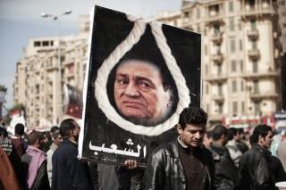 Mubarak (hoszni mubarak, tüntető, egyiptom, )