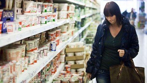 élelmiszer (élelmiszer, vásárló, tejföl)