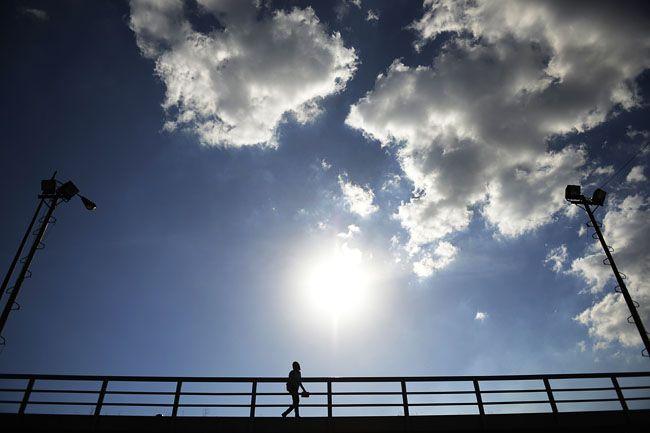 felhős napos (felhős idő, időjárás, napsütés, )