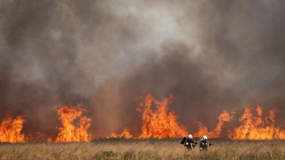 tűz a hortobágyon (hortobágy, nádas, tűz, )