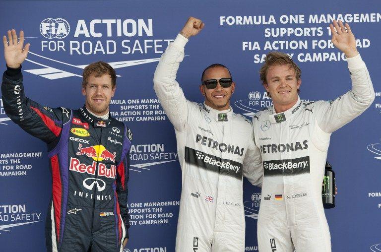 Hamilton és Rosberg (hamilton, rosberg, )