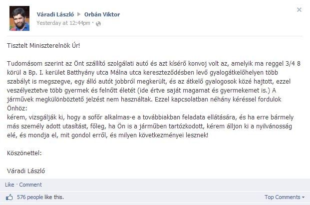 Orbán konvoja poszt (orbán viktor)