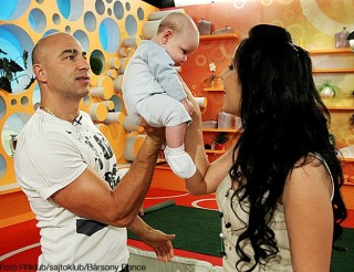 Rippel Ferenc és gyermeke az RTL Klubban (rippel ferenc, rtlklub, )