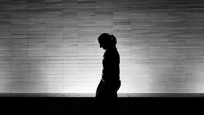 árnyék nő (árnyék, sziluett, )