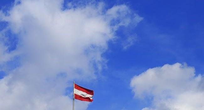 osztrák zászló (osztrák zászló, ausztria, )