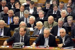 szavaznak a képviselők (szavazás, )