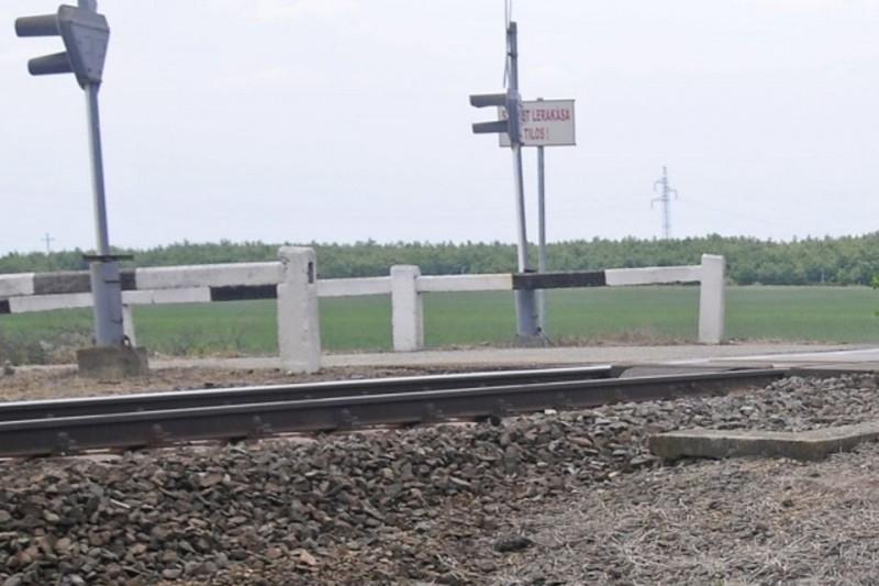vasúti-átjáró (ingyenes, vágott, vasúti átjáró, sín)