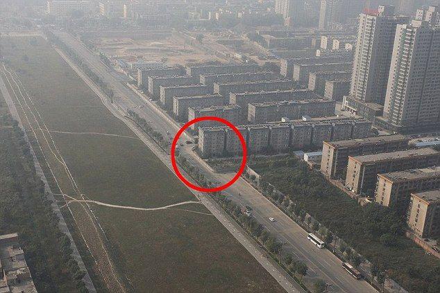 Kínai út és ház (kína, építészet, )