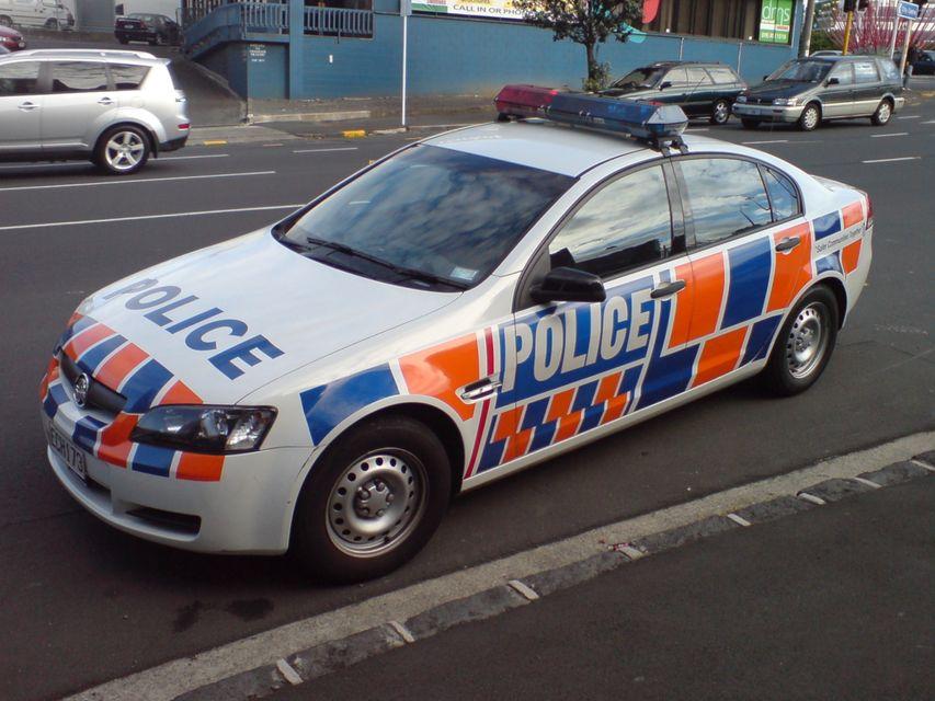 Új Zéland Rendőrség (rendőrautó, új zéland, )