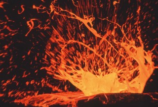 Vulkán láva (vulkán, láva, )