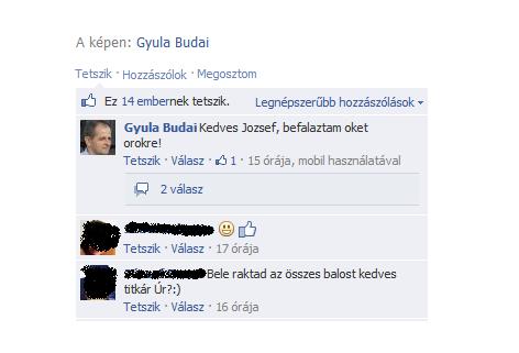 budai gyula kommentel (budai gyula, facebook, komment, )