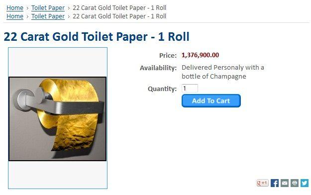 Arany WC-papír (wc-papír, arany, )