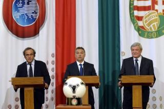 Michel Platini, Orbán Viktor, Csányi Sándor (michel platini, orbán viktor, csányi sándor, )