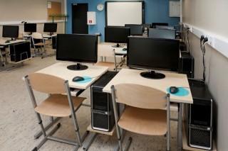 iskola számítógépterem (iskola, tanterem, számítógép, )