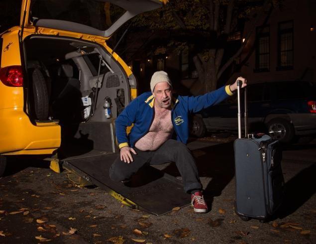 NY taxis naptár 2 (taxi, naptár, meztelen, )