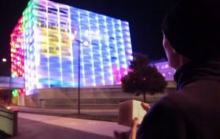 Rubik-kocka épület (kreatív, dizájn, rubik-kocka, épület, )