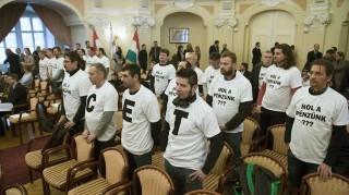 bálna tüntetés a fővárosi közgyűlésben (bálna, tüntetés, )