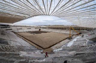 épülő debreceni stadion (debreceni stadion, )