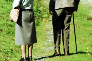 idős pár (séta, )