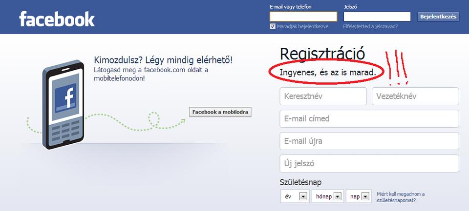 ingyenes marad a facebook (facebook, )