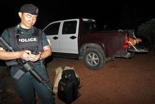 thai rendőr (thaiföld, rendőr, )