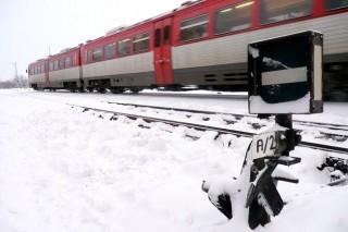 Vonat havazásban (vonat, hó, havazás, )