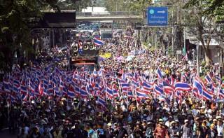 bangkoki tüntetés (bangkok, tüntetés, )