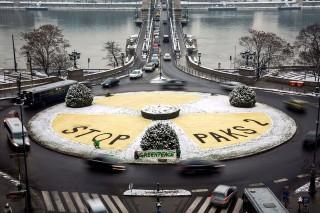 greenpeace akció paks bővítése ellen (atomjel, greenpeace, paksi bővítés, )