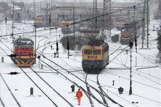 havazás, vasút, vonat, máv (havazás, vonat, )