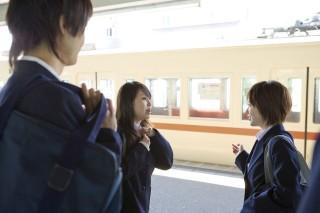 japán lányok (diáklány, japán, vasút, )